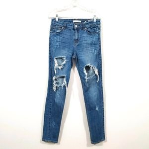 Eunina Lauren Skinny Trashed Distressed Jeans 11
